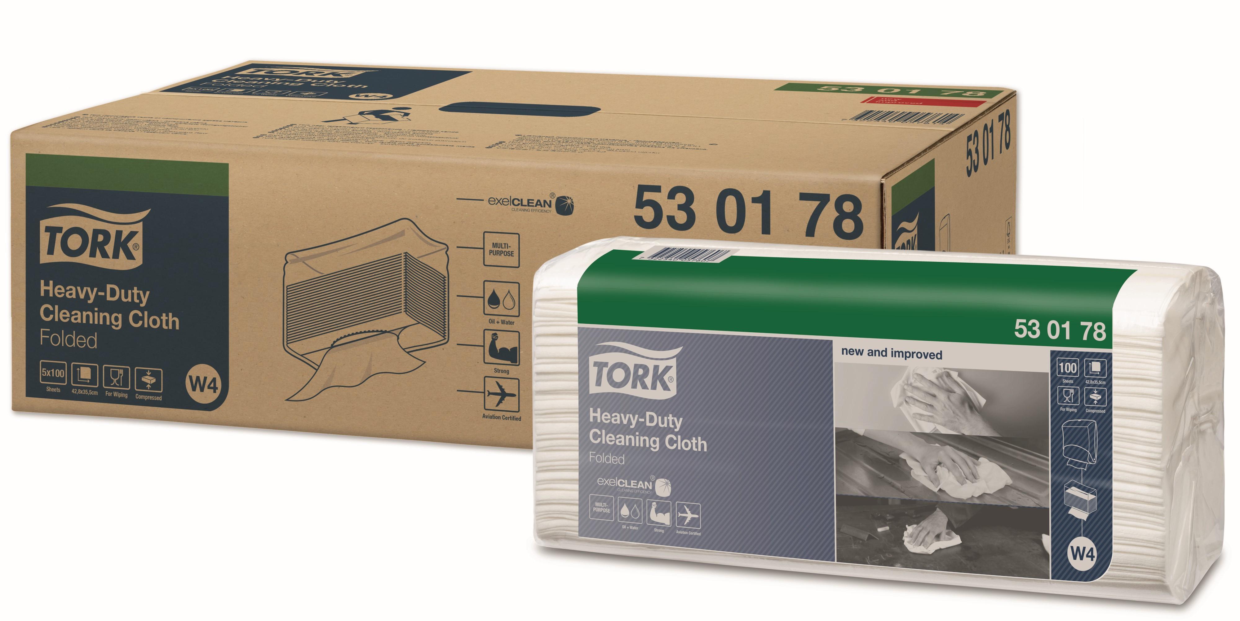 Tork aftørringsklud Top Pak blå 500 ark W4