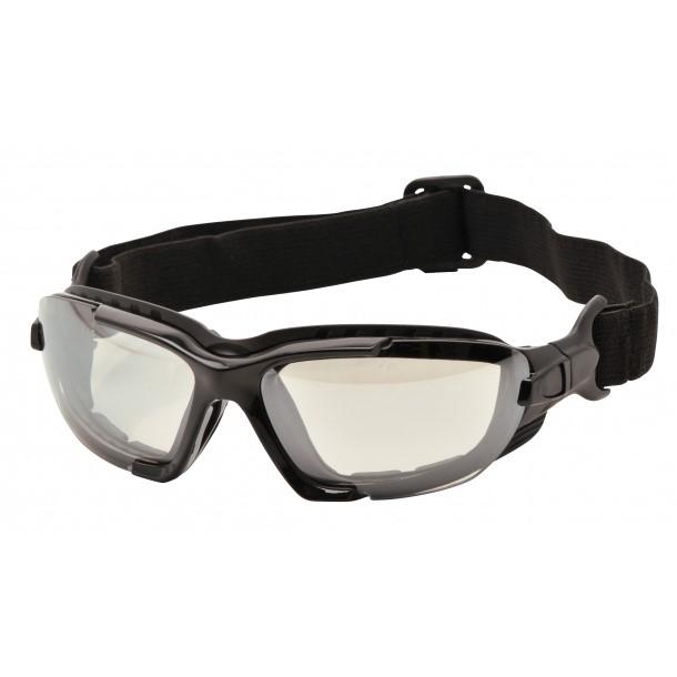 Levo sikkerhedshybridbrille incl. elastikbånd - Smoke