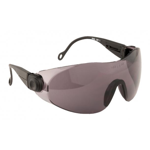 Sikkerhedsbrille PW31 justerbar polycarbonat smoke