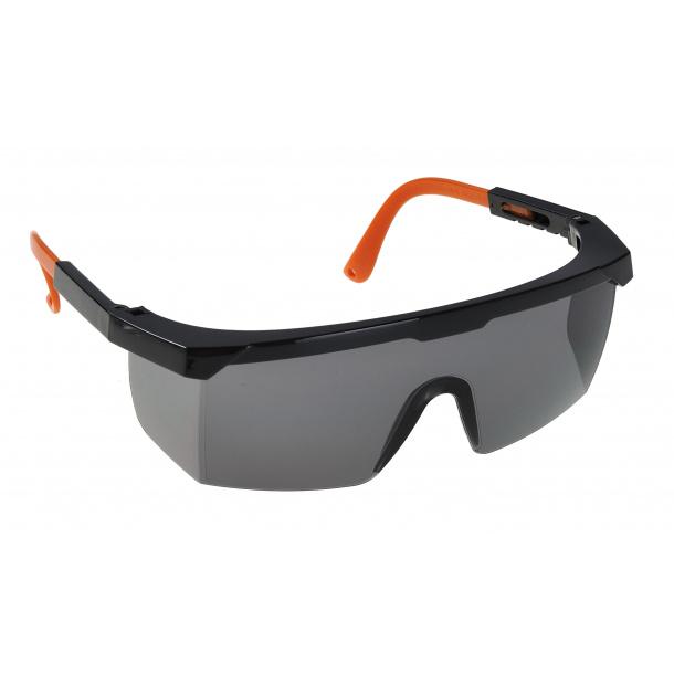 Klassisk sikkerhedsbrille - Smoke m. sort/orange stel