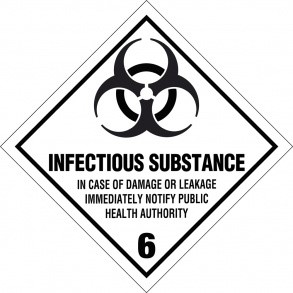 Infectious substance kl. 6 fareseddel